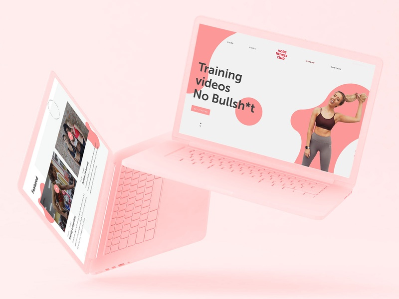 No bullsh*t fitness website fun pink feminine fitness