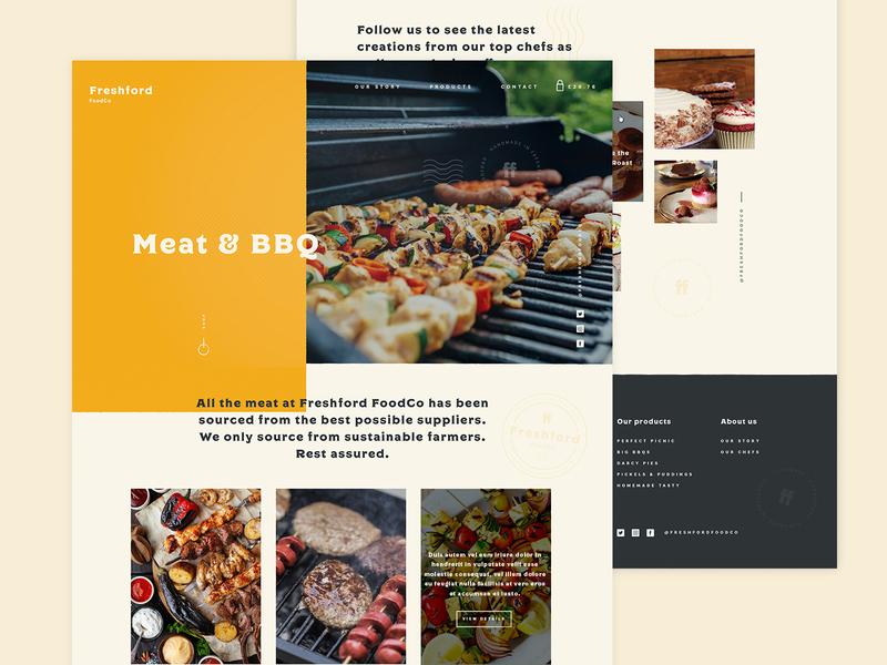 Freshford Foodco concept design website design website artisan food
