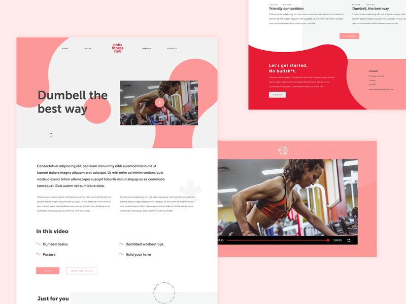 No Bullsh*t Fitness website feminine personal trainer fitness video