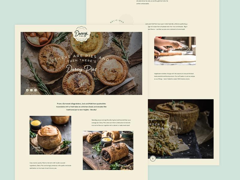 Darcy Pies website artisan pie food