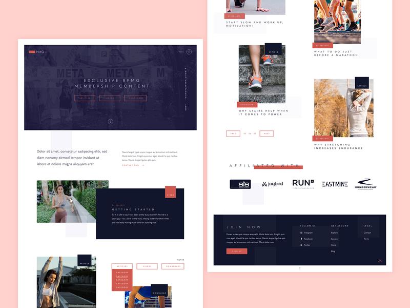 Project Marathon Girl website builder website minimal run marthon