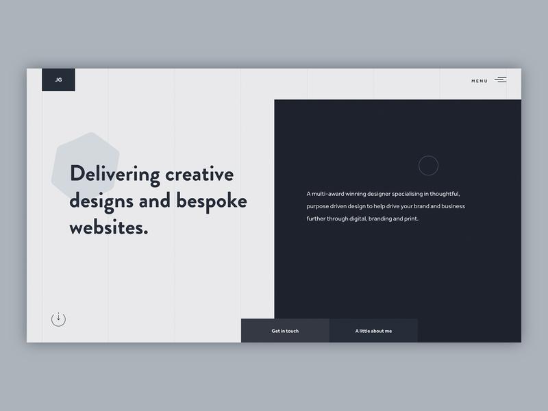 Portfolio site ui dark ui dark typography minimal website portfolio