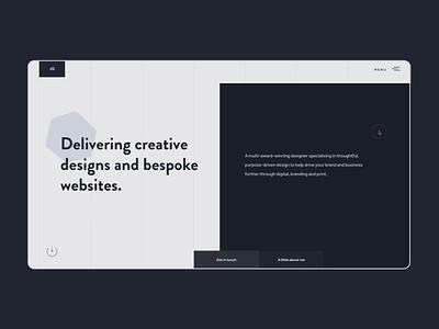 Portfolio 2019 typography darkui product design website design portfolio