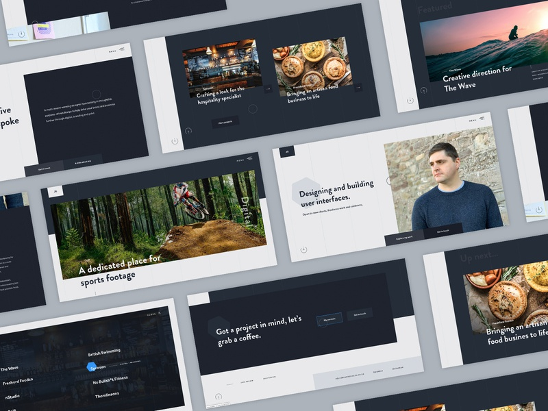 We are live typogaphy fullscreen menu product design webdesign website agancy portfolio