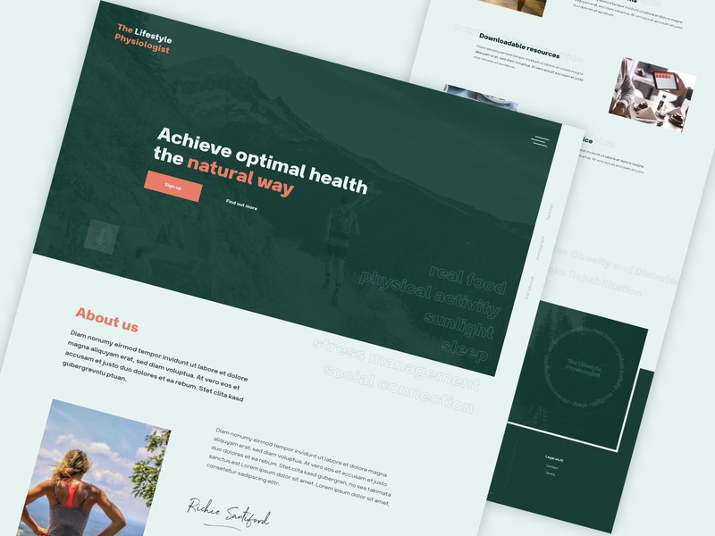 The Lifestyle Physiologist clean ui productdesign website clean webdesign sport