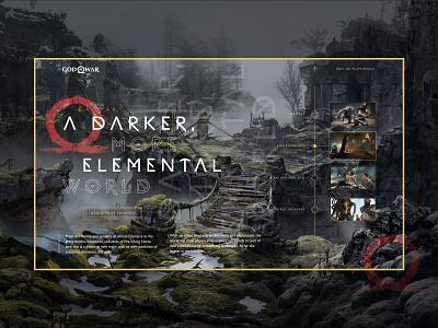 God of war concept webdesign playstation god of war