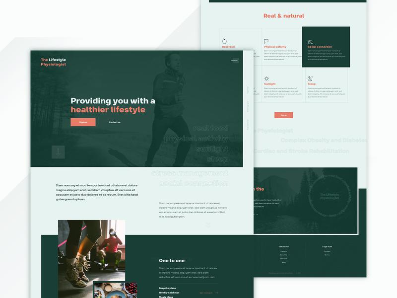 Lifestyle clean website website design membership fitness health