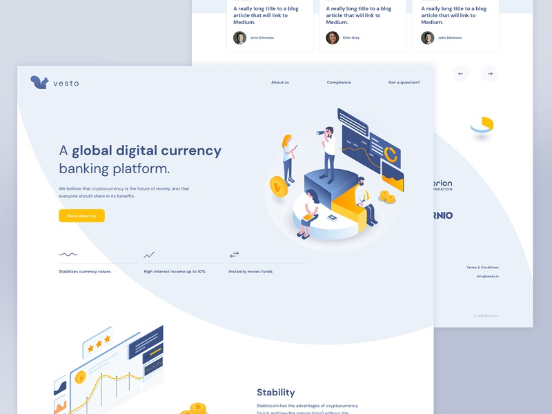 Currency friendly bright circle flow illustration banking currency webdesign uxdesign uidesign website