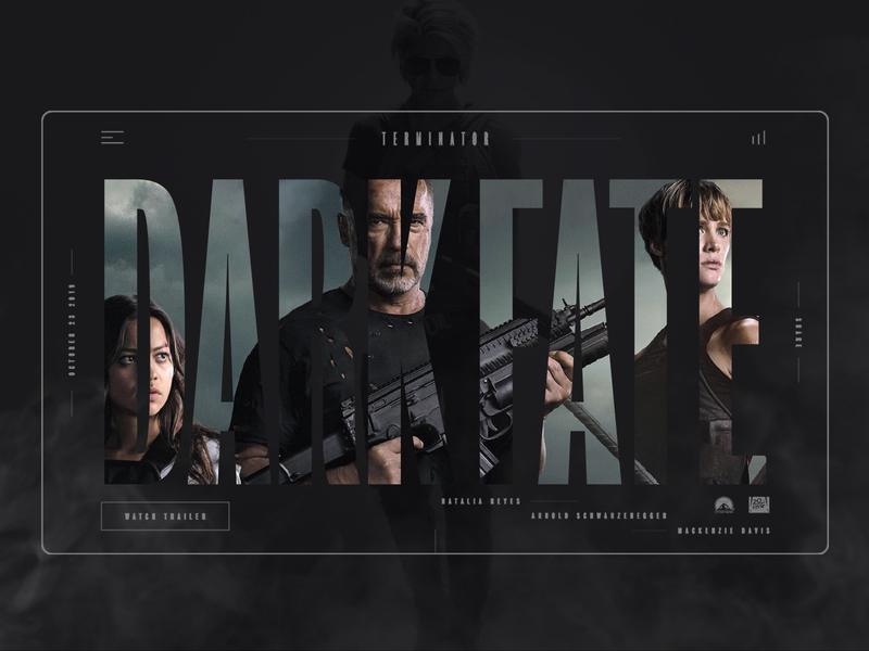 Dark Fate product design webdesign film move terminator dark fate