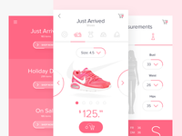 E-commerce light UI concept for mobile. Woman section.