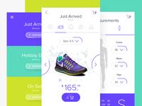E-commerce light UI concept for mobile. Men section.