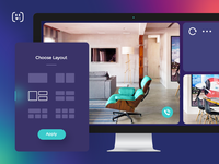 Remote Window internal product concept - Choose Layout panel.