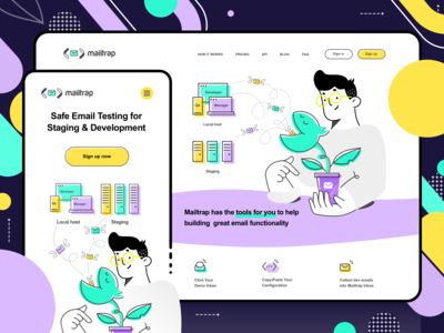 Mailtrap responsive illustrations