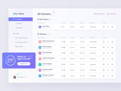 Mailtrap Application Interface
