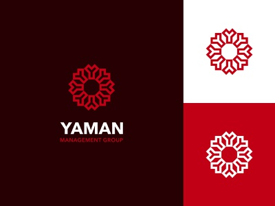Yaman Management Group branding logo clean red abstract logo flat sophisticated logo elegant lettermark logo logo design logo designer professional