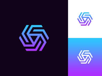 Abstract Hexagon Logo branding logo idea sophisticated logo hexagon logo abstract logo exploration logo design logo design concept logo designer professional