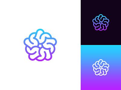 Brain + Star Logo for sale abstract logo exploration logo design idea logo design concept logo designer professional star logo brain logo