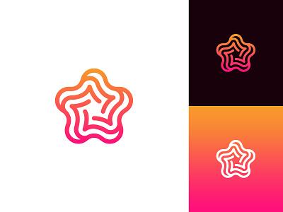 Stellar Vortex Logo logo design for sale abstract logo idea exploration logo design concept logo designer professional vortex logo star logo