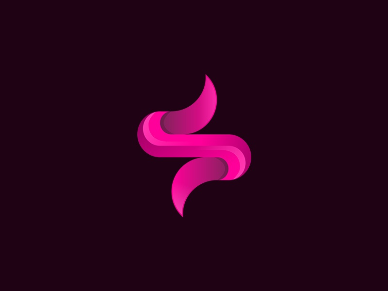 S Logo | Experiment No. 40 clean letter magenta abstract letter s luxurious lettermark branding sophisticated logo gradient elegant vector professional logo designer logo design concept design idea exploration logo design logo