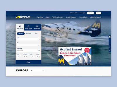 Harbour Air Web - Landing Page
