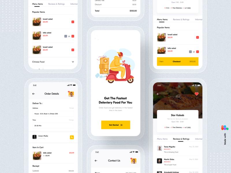 Food Delivery App food delivery app uiux ui typography restaurant order mobile app design mobile app mobile minimal ios illustration food delivery food app design delivery clean ui application app design app