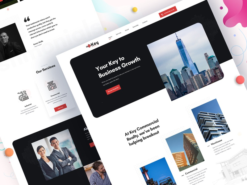 Real Estate Broker Website web landing page design visual design clean website design clean user interface business clean ui design clean ui homepage illustration design real estate website agency website landing page ui typography minimal real estate agency real estate