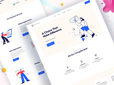 Digital Agency Website app design product design digital agency creative agency clean ui website design ui design redesign agency landing page web design design landing page website web illustration typography ui minimal agency website agency