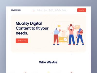 Digital Agency Website design web design redesign web minimal typography ui illustration clean ui app design product design landing page landing page design website design website agency website agency landing page agency creative agency digital agency