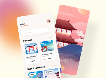 Hotel Booking App uiux design typography minimal ios illustration application app design app mobile app design mobile app mobile hotel booking app hotel booking travel app travelling travel booking travel apps booking app