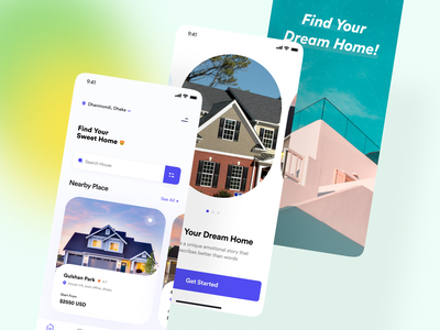 Real Estate App booking property house real estate branding real estate agent real estate agency uiux minimal ios design typography ui mobile app design mobile ui mobile application app design app real estate app real estate