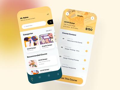 Online Course Platform App uiux ios typography illustration application mobile app design mobile app mobile app design app learning online course learning platform education app learning app online learning e-learning course online course app course app