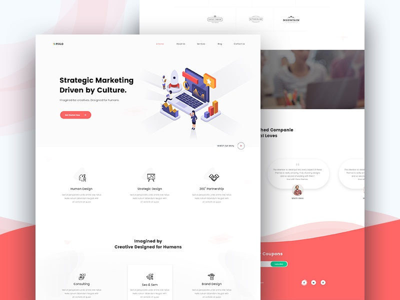Pixlo Marketing Landing page web design seo services seo company seo search online marketing minimal marketing landing page marketing company marketing agency marketing website landing page home page creative clean website clean user interface clean ui design clean business