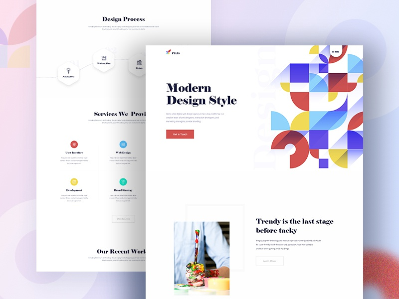 Design Agency - Homepage bangladesh trend design agency landing page landing page web design website web ux design ui design typography trend 2019 minimal homepage futuristic ui dribbble digital design agency color agency