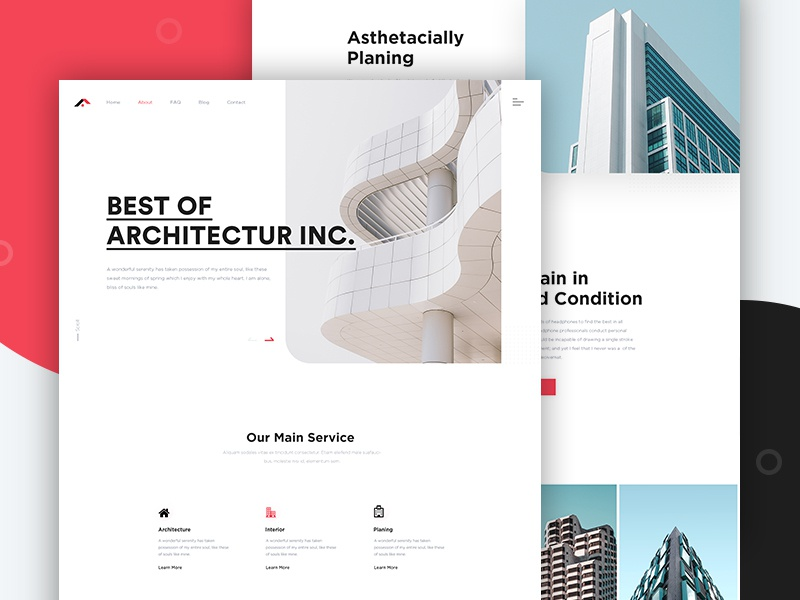 Architecture website agency clean website clean user interface clean ui design home page website design company web web design ui design typography landing page design creative architecture website website real estate property minimal landing page architecture design architecture