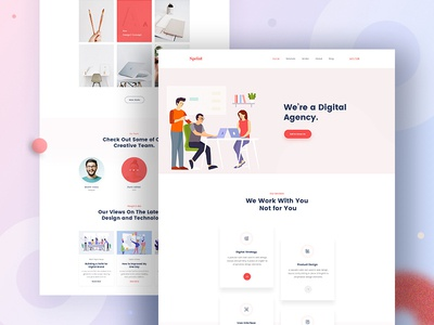 Design Agency - Homepage V3 website design company website web design web ui deisgn ui typography minimal landing page design landing page illustration home page design agency clean website design clean user interface clean ui design business agency landing page agency