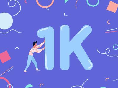 1K Followers - HURRAY!