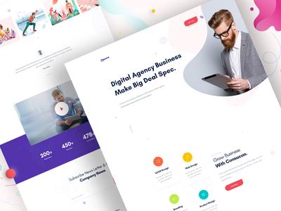 Design Agency - Homepage V4