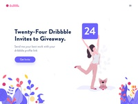 24 Dribbble Invites (Freebie)