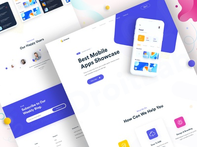 App Landing Page Designs Themes Templates And Downloadable Graphic Elements On Dribbble