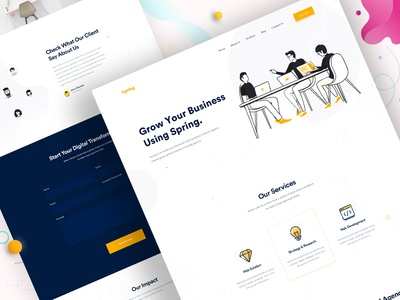 Design Agency - Homepage V6 web design website web visual design ui typography trendy design minimal landing page landing homepage creative clean ui 2019 trend clean website design clean user interface clean ui design business agency landing page agency