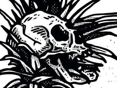 pineaple & skull andreesalazar peru wacom artwork digitalart illustration