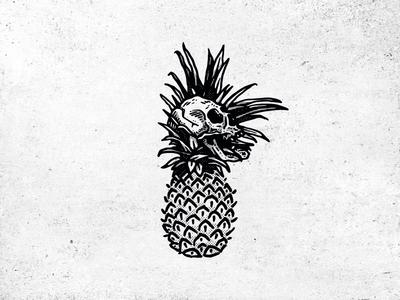 pineaple & skull