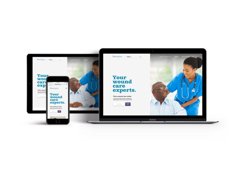 Wound Care Redesign wound woundcare healthcare heal redesign website