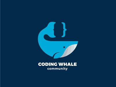 Coding Whale Logo