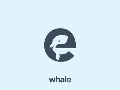 Whale! Lettermark made for fun :-)