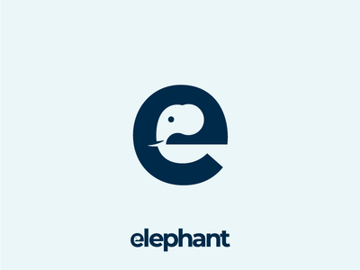 Elephant! Lettermark made for fun :-))