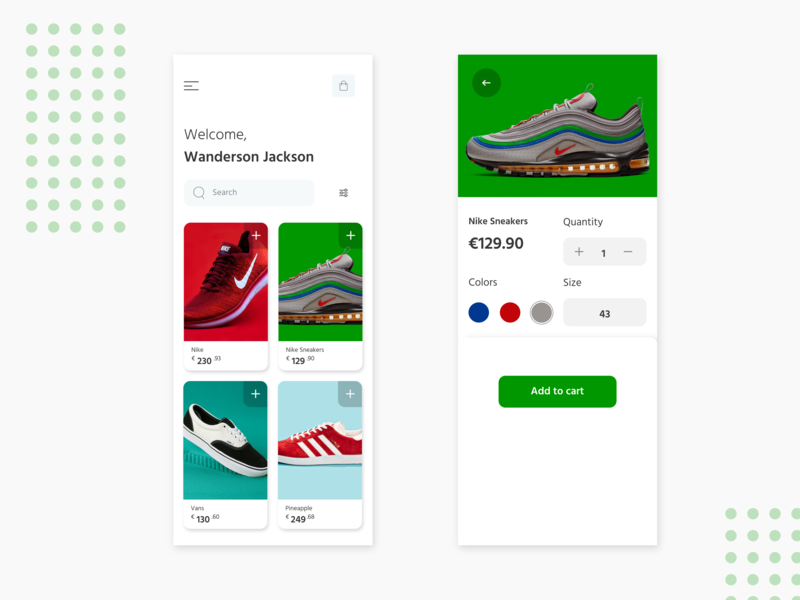Shiftly shopping app ios mobile invisionstudio concept experience trend 2019 boldui uianimation uidesign ux cards ui cards cart shopping app shopping cart