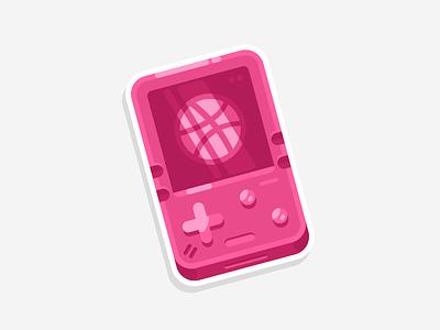 PocketDrib game dribbble sticker stickermule