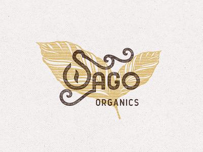 Sago Organics typography leaf tea branding logo organic