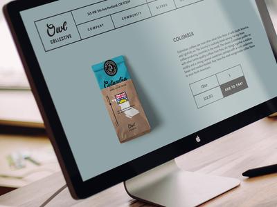 Owl Collective Website shop website coffee